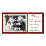 Feliz, navidad tarjetas fotográficas personalizadas