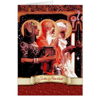 Feliz Navidad. Tarjeta de felicitación española de
