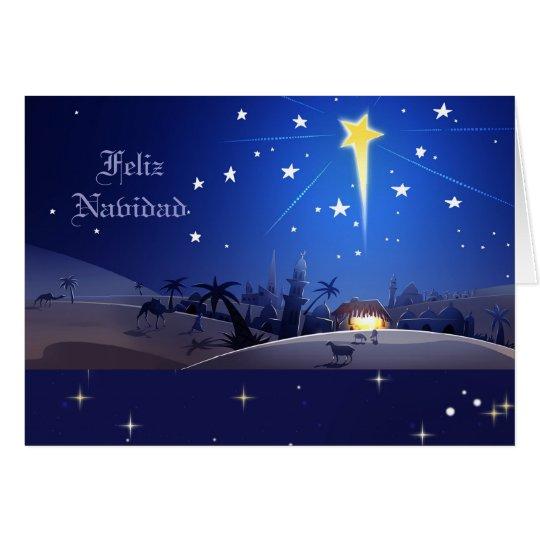 Feliz Navidad. Tarjeta de Navidad española