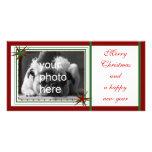 Feliz, navidad tarjeta fotográfica