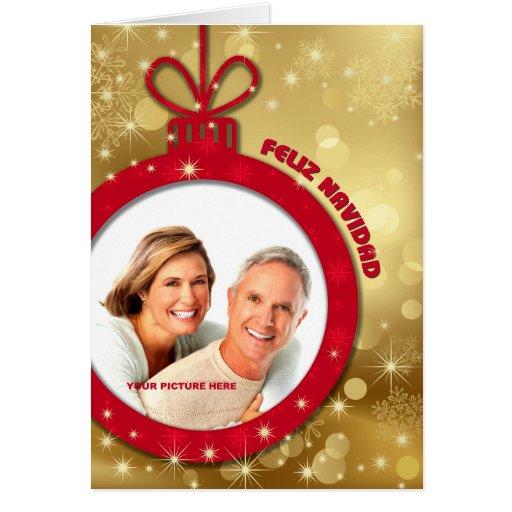 Feliz Navidad. Tarjetas adaptables españolas de la