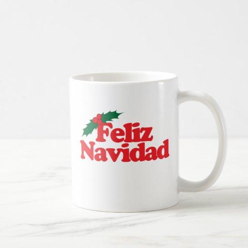 Feliz Navidad Taza Básica Blanca