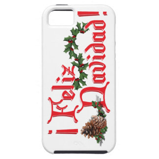 Feliz Navidad Text Design with Pine Cones iPhone SE/5/5s Case