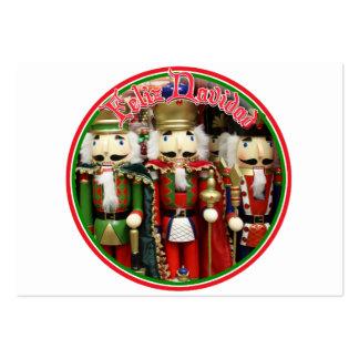 Feliz Navidad - tres galletas sabias Tarjetas De Visita Grandes