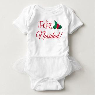 """""""Feliz Navidad"""" Tutu Baby Bodysuit"""