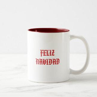 FELIZ NAVIDAD Two-Tone COFFEE MUG