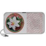 Feliz Navidad - White Poinsettia Notebook Speaker