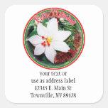Feliz Navidad - White Poinsettia Sticker