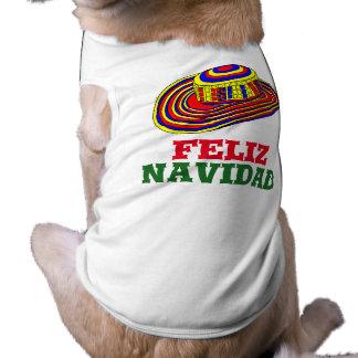 Feliz Navidad with Sombrero Dog Christmas Shirt