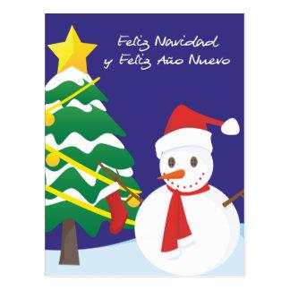 Feliz Navidad y Feliz Año Nuevo Tarjeta Postal
