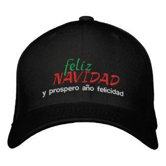 Feliz Navidad y Prospero Año Felicidad! Embroidered Baseball Hat