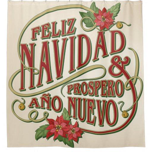 Feliz Navidad y prospero ano nuevo Shower Curtain