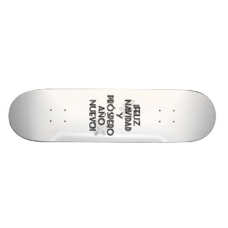 Feliz Navidad Y Prospero Ano Nuevo Skateboard