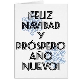 Feliz Navidad Y Prospero Ano Nuevo Tarjeta Blank Cards