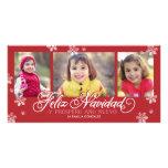 Feliz Navidad Y Próspero Año Nuevo Tarjeta Personal Con Foto