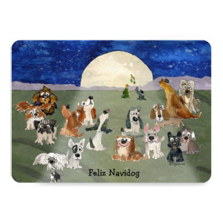 Feliz Navidog Christmas Dogs Cartoon Card