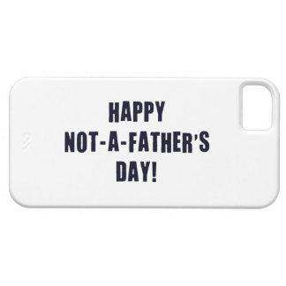 Feliz no un día de padre iPhone 5 Case-Mate funda