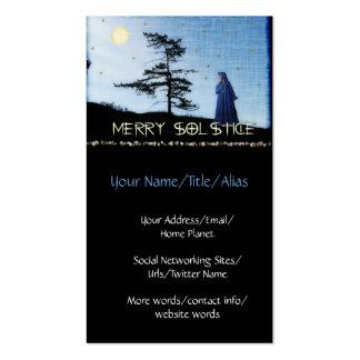 Feliz noche del solsticio plantilla de tarjeta de visita