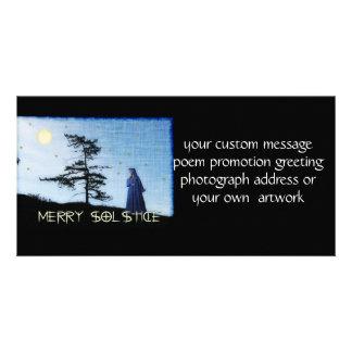 Feliz noche del solsticio tarjetas fotograficas