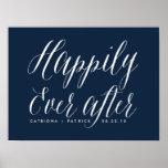 Feliz nunca después de casar a la marina de guerra posters
