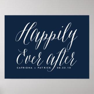 Feliz nunca después de casar a la marina de guerra póster