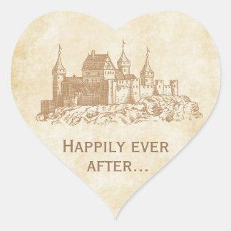 Feliz nunca después de casar a los pegatinas del f