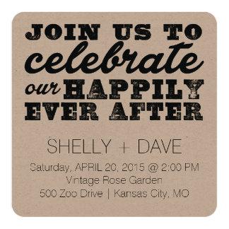 Feliz nunca después de casar la invitación