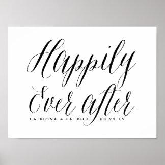 Feliz nunca después de casar negro del poster el |