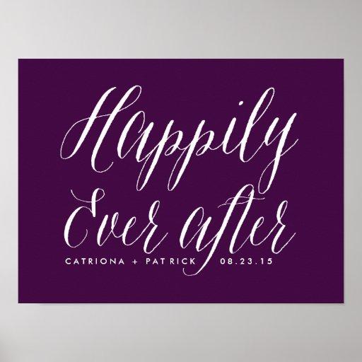 Feliz nunca después de casar púrpura del poster el póster