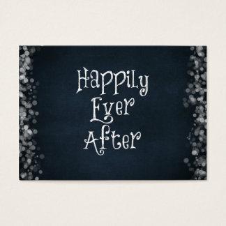 Feliz nunca después de cita tarjeta de negocios