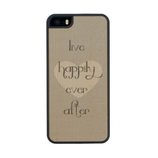 Feliz nunca después de corazón funda de arce carved® para iPhone 5 slim