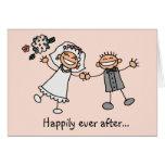 Feliz nunca después de la invitación de boda felicitacion