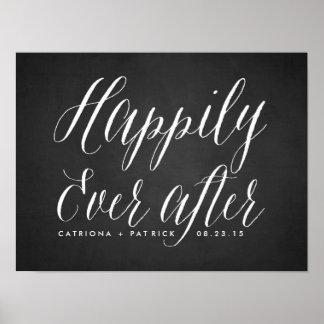 Feliz nunca después de poster del boda de la pizar