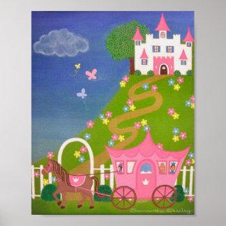 Feliz nunca después - de princesa Castle Kids Girl Poster