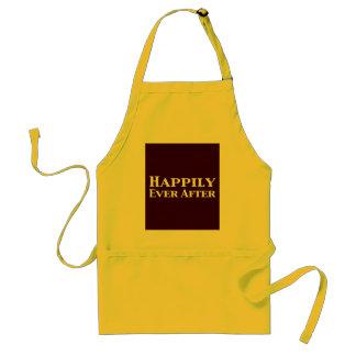 Feliz nunca después de regalos delantales