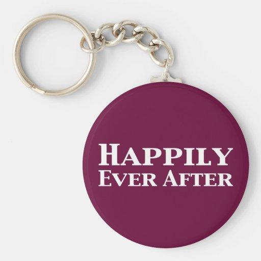 Feliz nunca después de regalos llavero redondo tipo pin