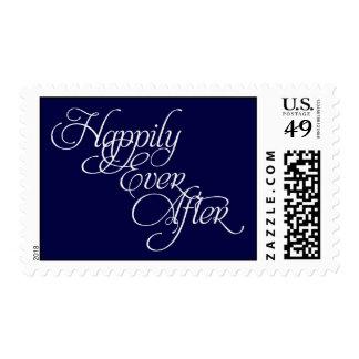 Feliz nunca después de sello del boda del cuento
