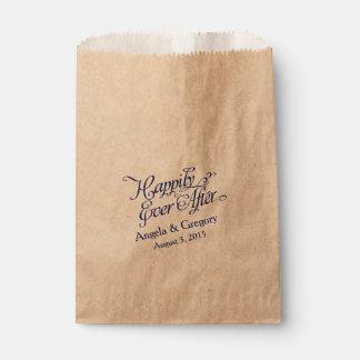 Feliz nunca después del boda de la comida fría del bolsas de recuerdo