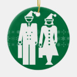 Feliz ornamento del verde del negocio ornaments para arbol de navidad