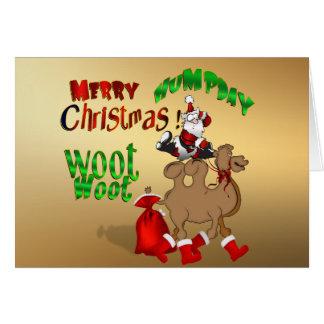 Feliz oro Woot Woot del camello del navidad del Tarjeta De Felicitación