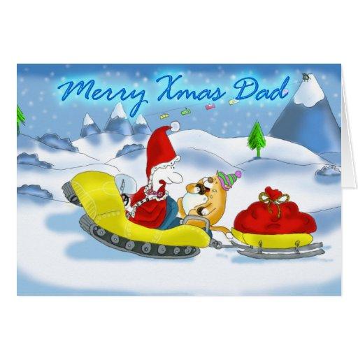 feliz papá santa de Navidad Tarjeta De Felicitación
