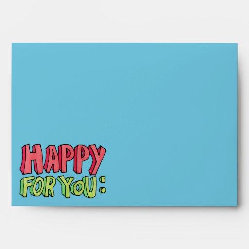 Feliz para usted sobre de la tarjeta