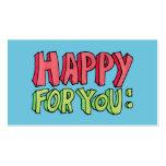 Feliz para usted tarjeta de visita
