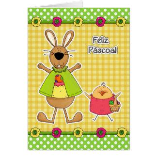 Feliz Páscoa Tarjetas de pascua adaptables del po