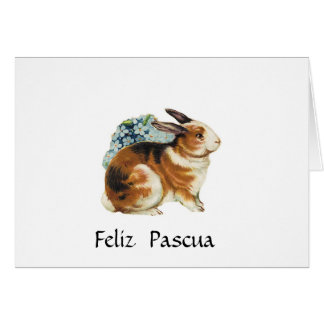 Feliz Pascua  , Happy Easter  in spanish Card