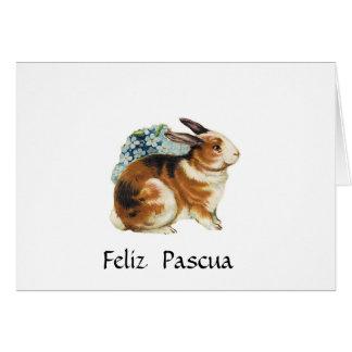 Feliz Pascua, Pascua feliz en español Tarjeton