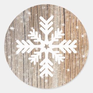 Feliz pegatina del invierno del copo de nieve