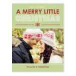 Feliz pequeña postal del día de fiesta del navidad