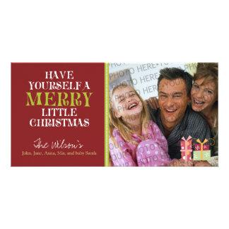 Feliz pequeño día de fiesta PhotoCard del navidad Tarjetas Personales