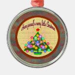Feliz pequeño ornamento del navidad adorno